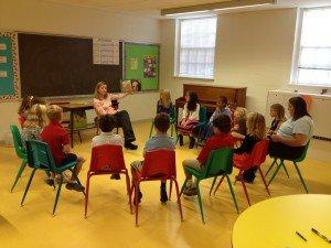 2nd-3rd grade Sunday School class
