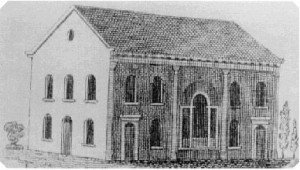 Second Church's original building at Baltimore and Lloyd Streets