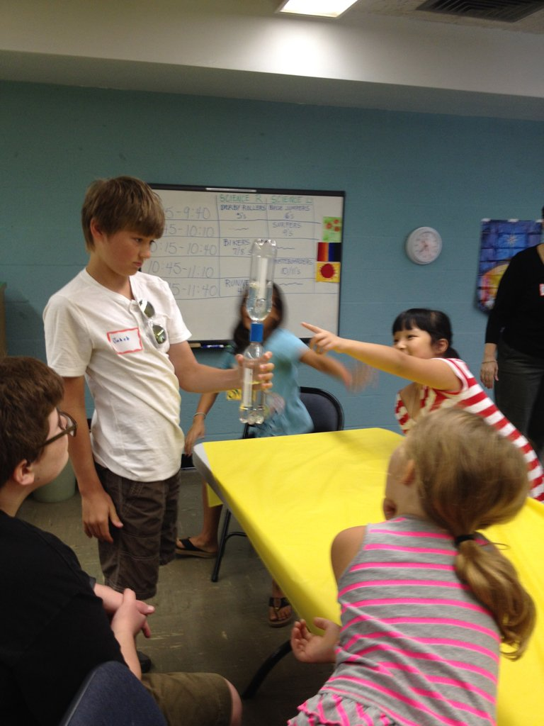 Science experiment at VBS