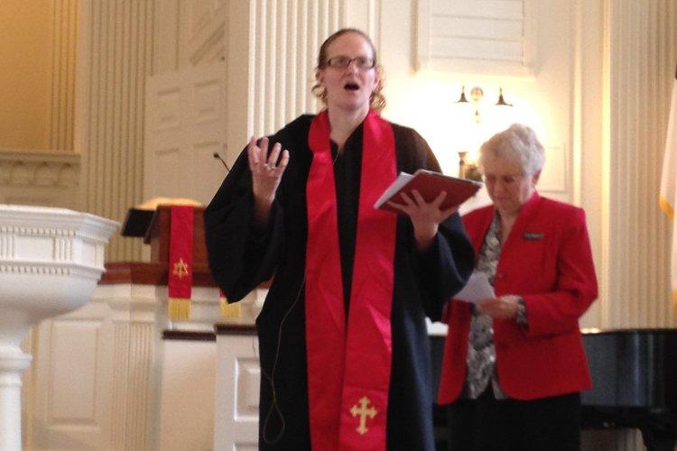 Rev. Jenn DiFrancesco preaching