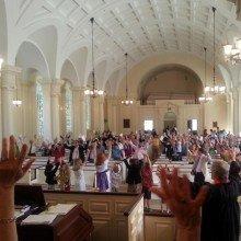 Photo of worship at Second Presbyterian