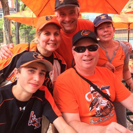 Second Pres members at the O's game