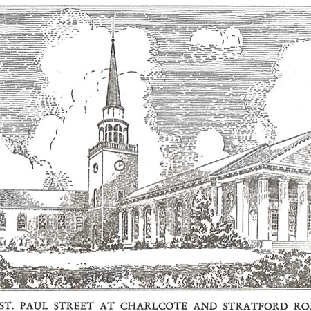 Old etching of Second Presbyterian Church