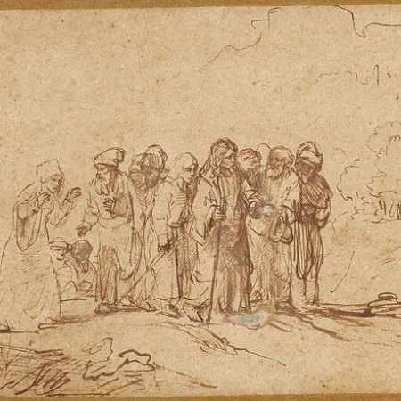 Rembrandt's Christ and th Canaanite Woman