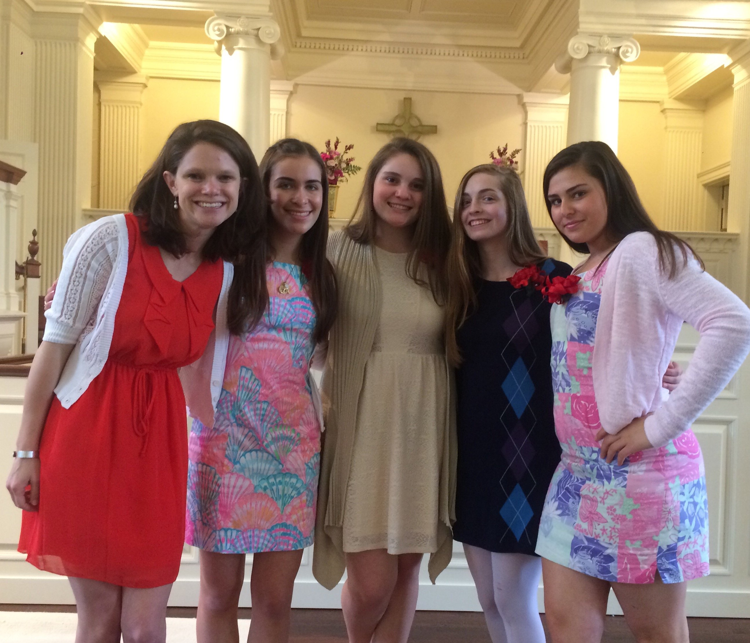 Newly confirmed girls, May 1, 2016