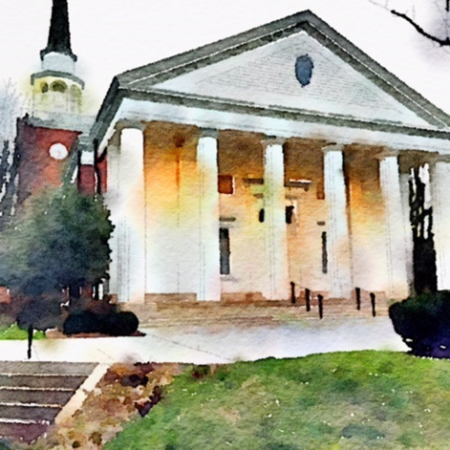 Watercolor of Second Presbyterian Church