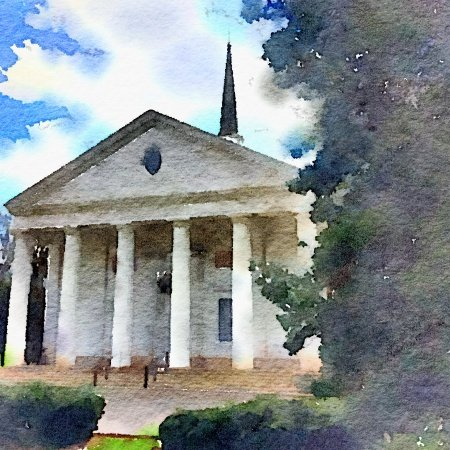 water color of Second Presbyterian Church