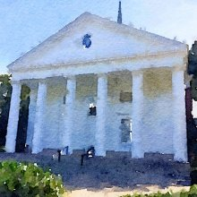 Watercolor image of Second Church