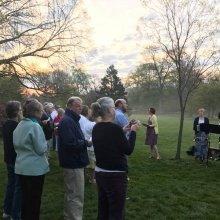 Easter Sunrise Service in Sherwood Gardens