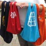 Reusuable t-shirt bags