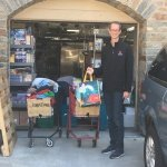 Donating food to GEDCO Cares